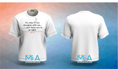 Đồng phục áo thun cổ tròn Forward màu trắng