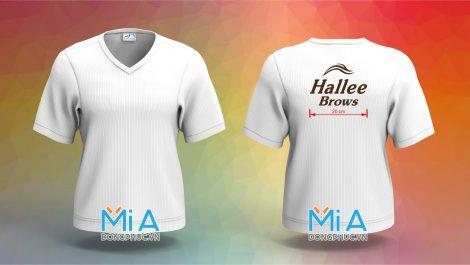 Áo đồng phục cổ tim Hallee Brows