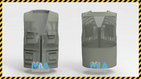 Áo lưới ghi lê bảo hộ dành cho kỹ thuật màu xám