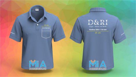 Đồng phục áo thun cổ bo chân cổ sơ mi D&Ri Group