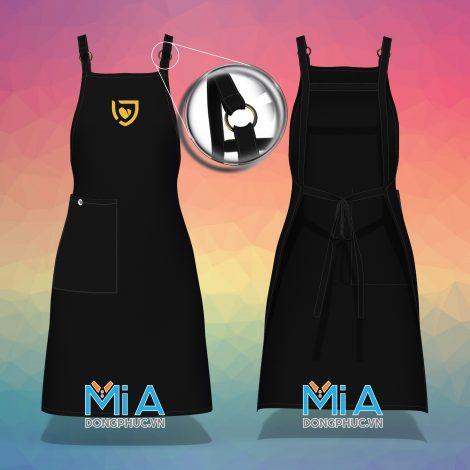 Sản xuất đồng phục tạp dề đeo vai túi đứng phải